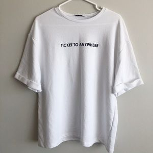 Zara Tshirt: Ticket to anywhere